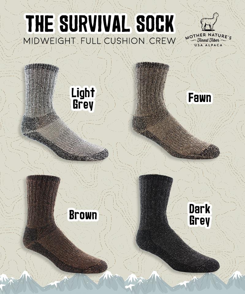 "Alpaca /""High Calf/"" Boot Sock Light Brown Size Large"